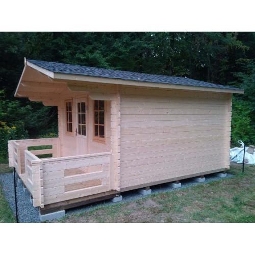 Artist Studio Overlooks Guest Cabin With Rooftop Garden: OFF GRID CABIN Under $10,000