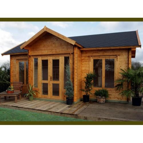 Artist Studio Overlooks Guest Cabin With Rooftop Garden: Courtyard Cabin Kit