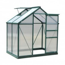 Outsunny 6'L x 4'W x 7'H Twin Wall Polycarbonate Portable Walk-In Garden Greenhouse