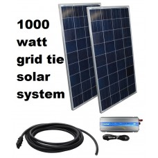 150KWH Monthly Output Grid Tie Solar System Kit w/ Grid Tie Inverter