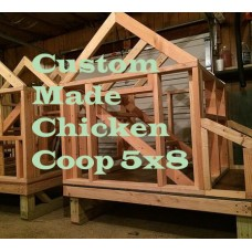 Custom Made Chicken Coop 5x8