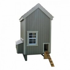 Little Cottage Unpainted Colonial Gable Chicken Coop - Small