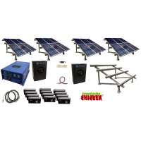 Custom Off Grid Solar Kit With 12000 Watt Power Inverter