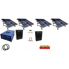 Complete Ranch 864KWH Monthly Output Off Grid Solar Kit With 12000 Watt Power Inverter