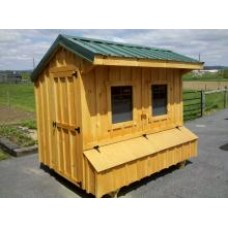 Fully Assembled Chicken Coop Quaker Style 6x8