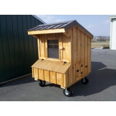 Fully Assembled Chicken Coop Quaker Style 5x4